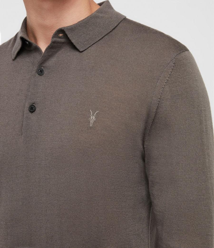 Hombres Mode Merino Polo Shirt (core_grey) - Image 2