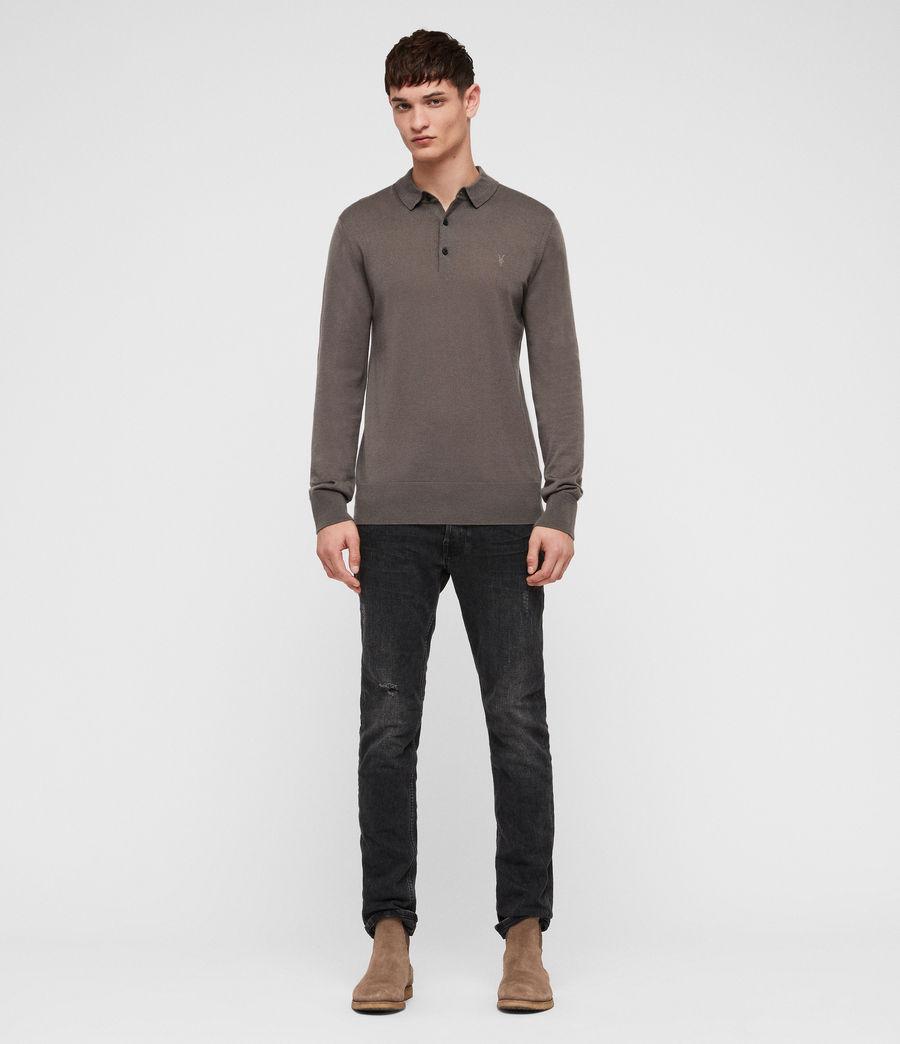 Hombres Mode Merino Polo Shirt (core_grey) - Image 3