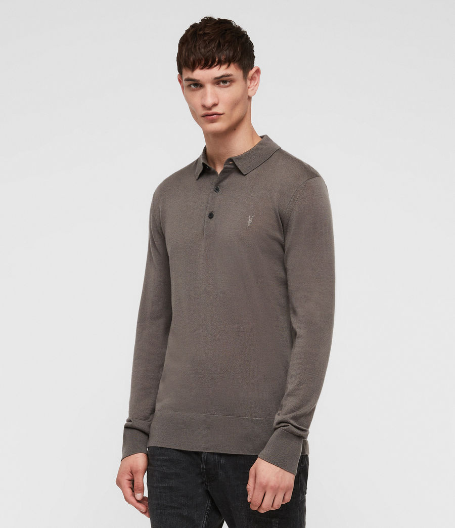 Mens Mode Merino Polo Shirt (core_grey) - Image 4