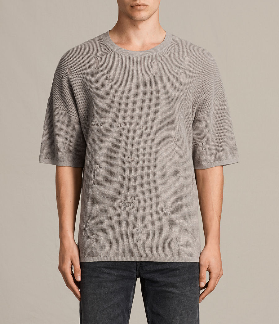 Men's Forram Short Sleeve Crew Jumper (putty_grey_marl) - Image 1