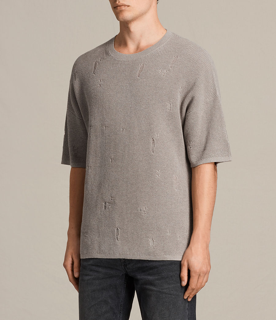 Men's Forram Short Sleeve Crew Jumper (putty_grey_marl) - Image 3