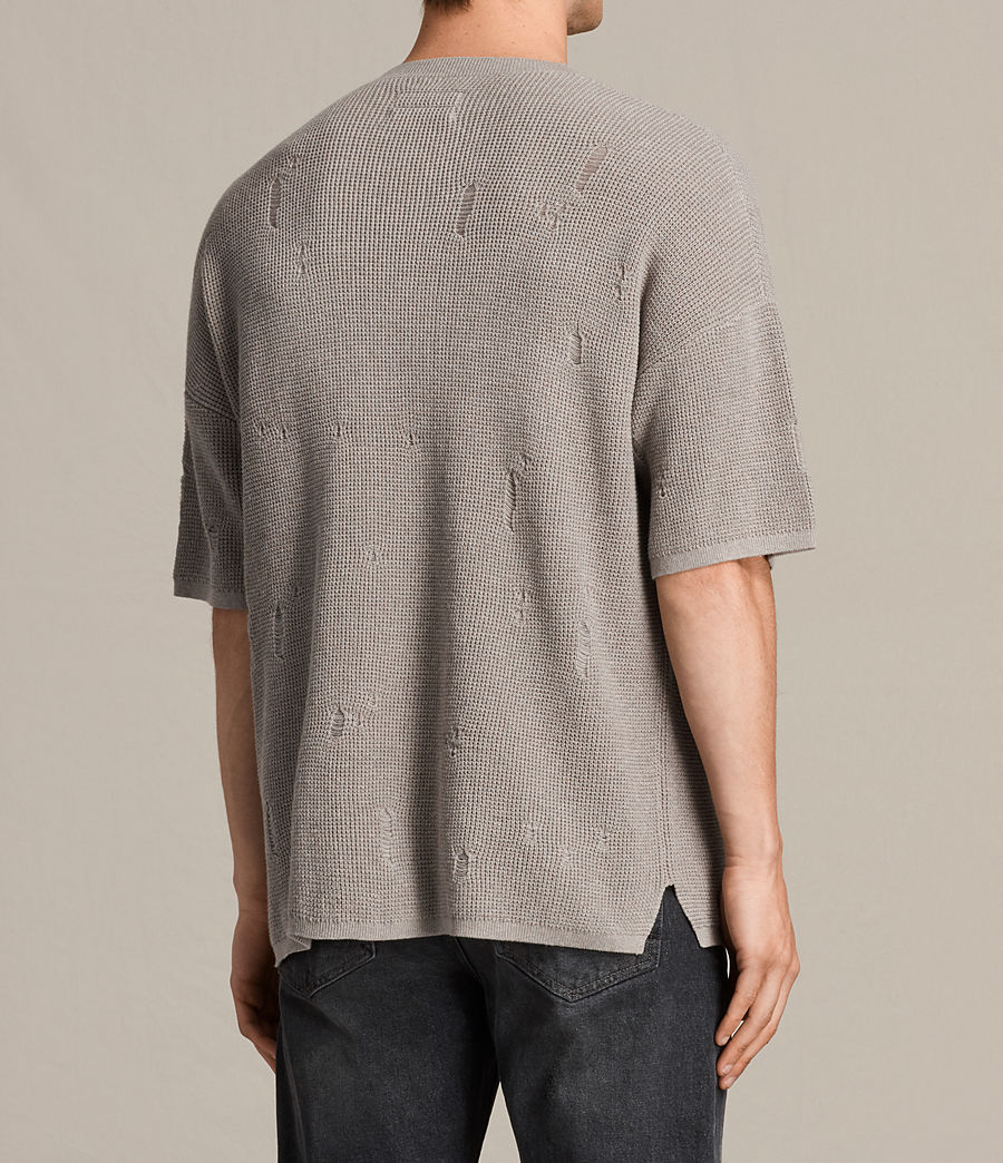 Men's Forram Short Sleeve Crew Jumper (putty_grey_marl) - Image 4