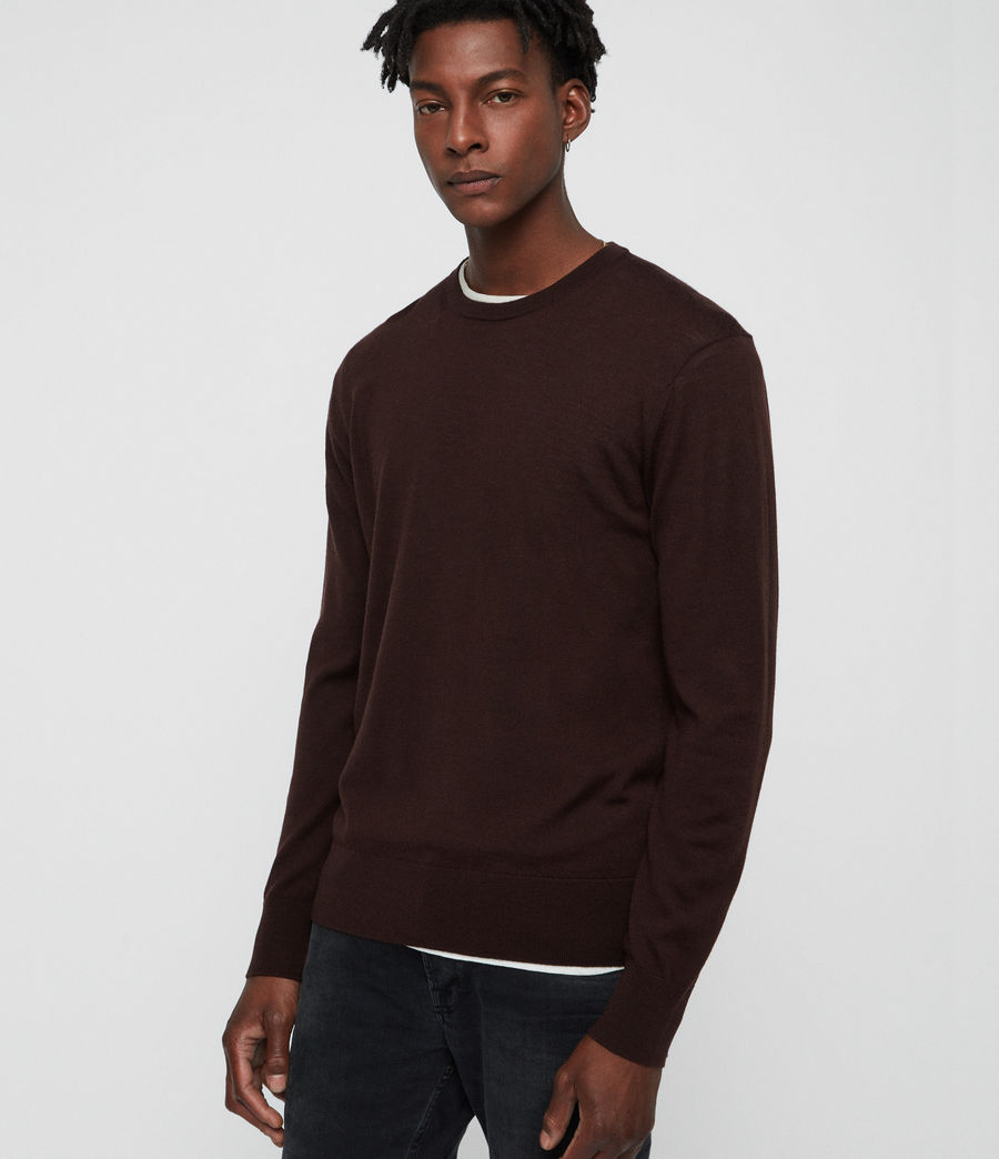 Uomo Maglione Lang (oxblood_red) - Image 1