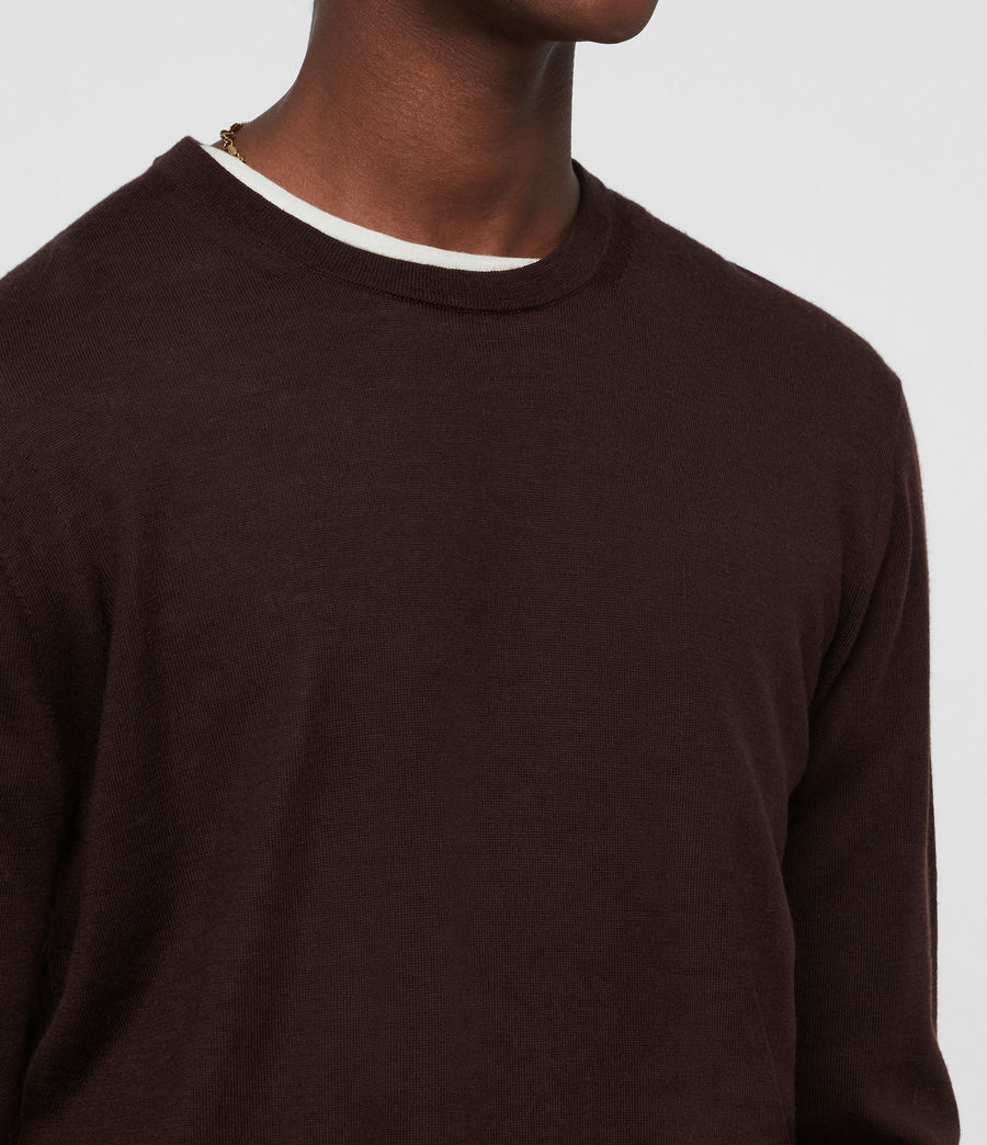 Uomo Maglione Lang (oxblood_red) - Image 2