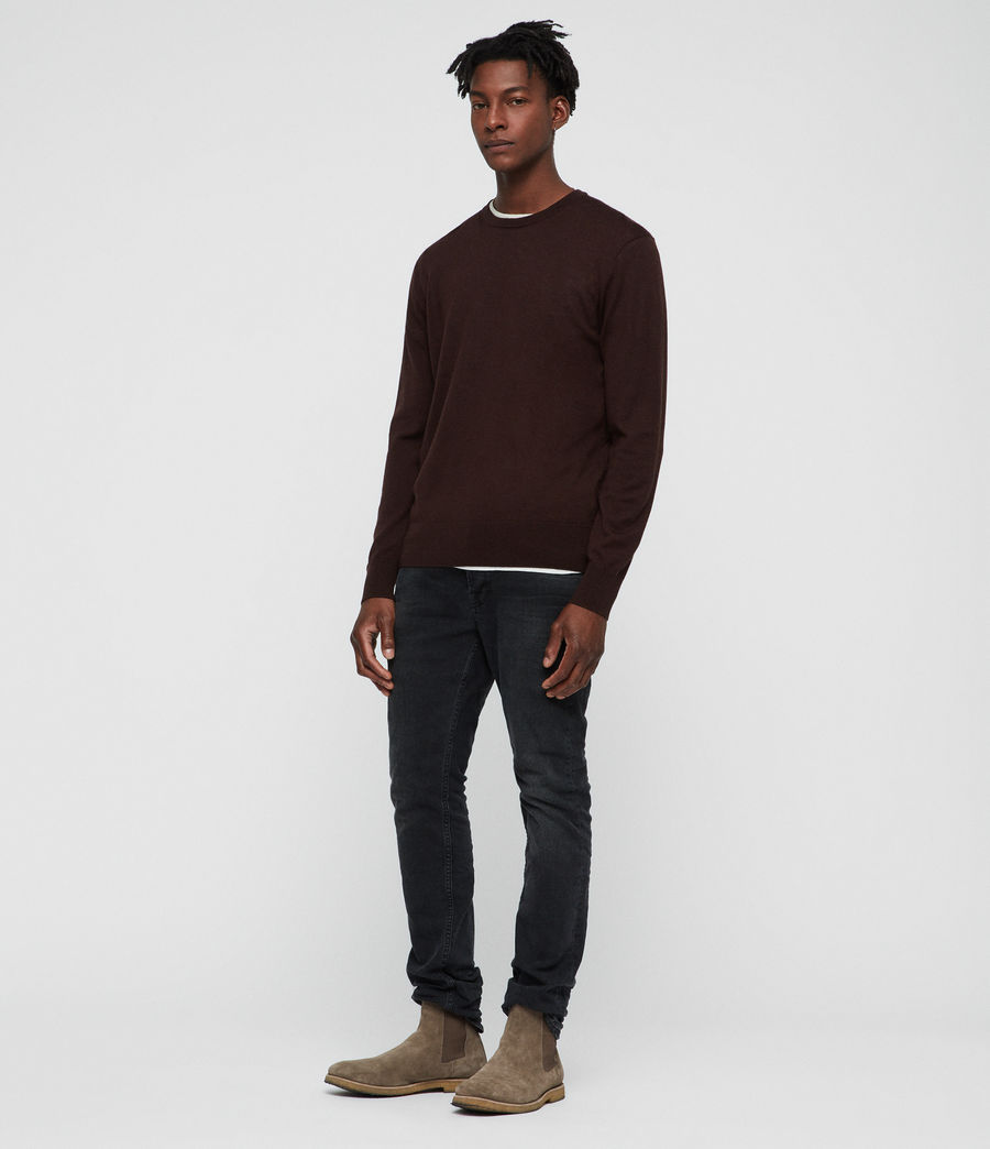 Uomo Maglione Lang (oxblood_red) - Image 3