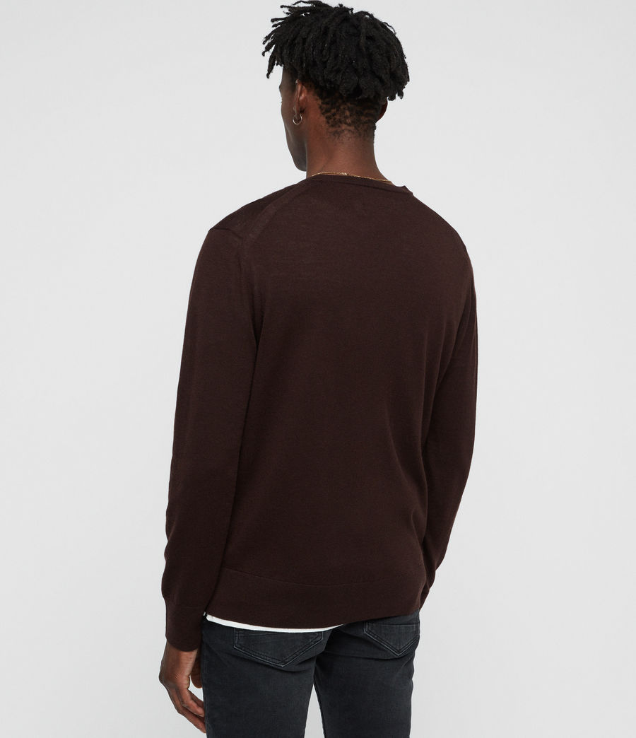 Uomo Maglione Lang (oxblood_red) - Image 4
