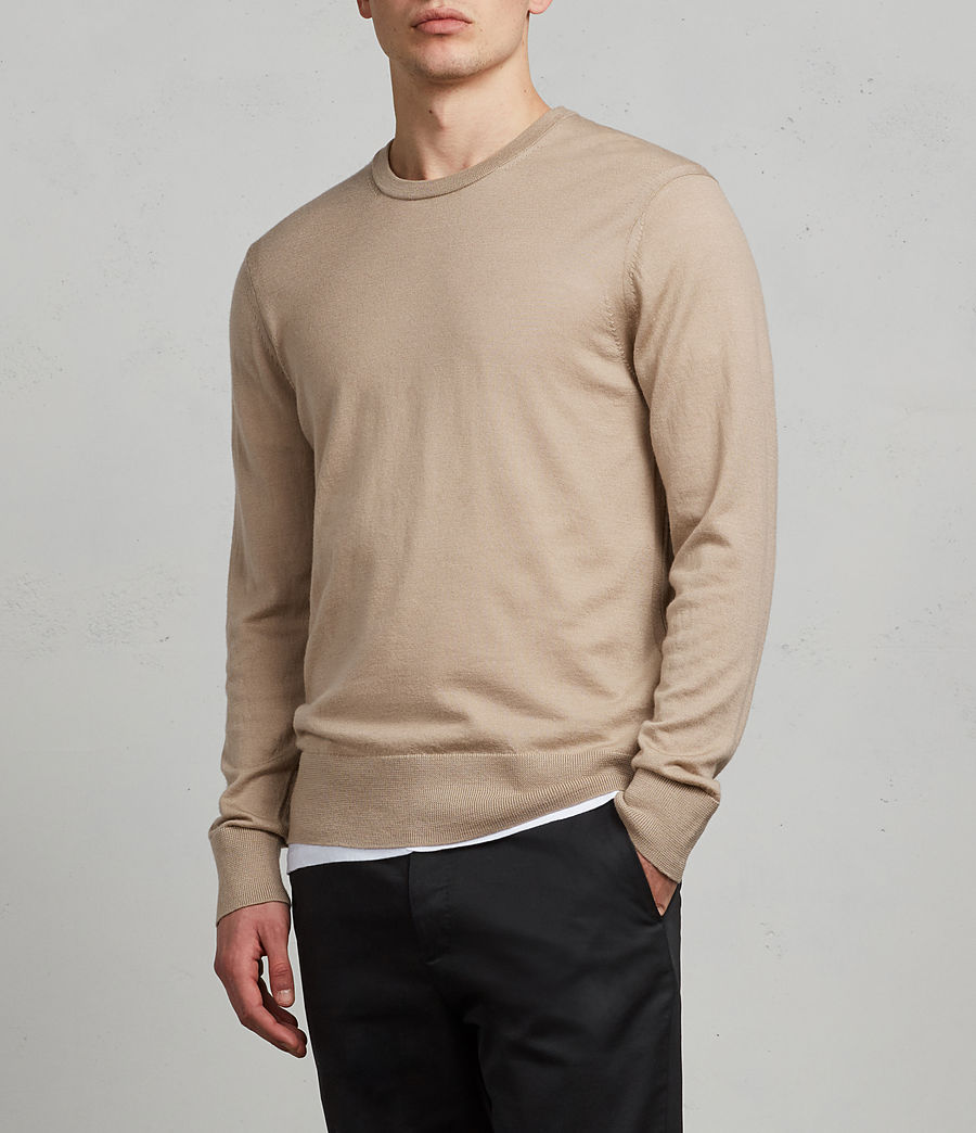 Hombres Jersey Lang Merino (walnut_taupe_brown) - Image 2