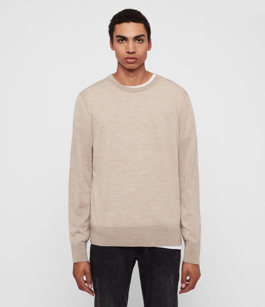 Men's Lang Merino Crew Jumper (black) - Image 1