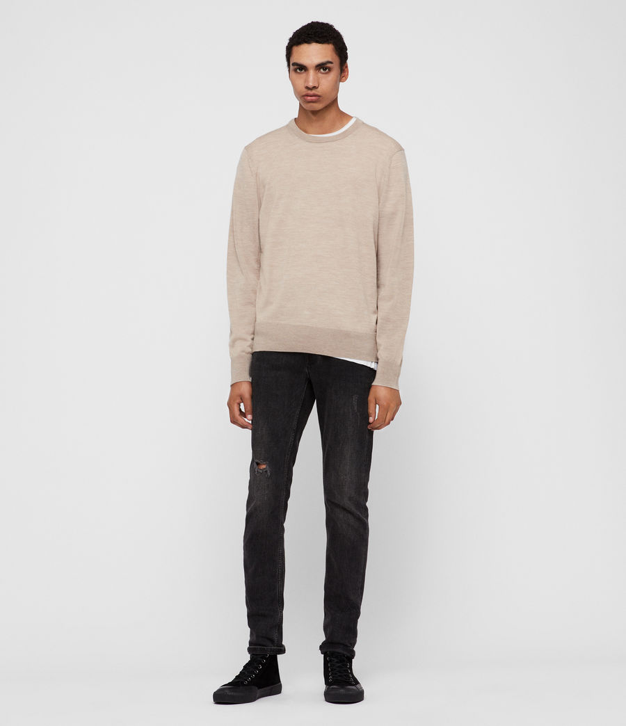 Men's Lang Merino Crew Jumper (black) - Image 4