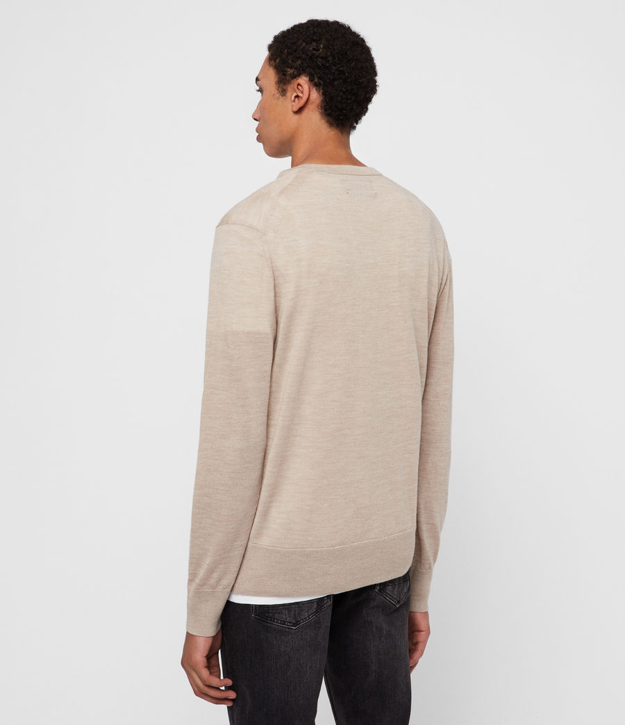 Men's Lang Merino Crew Jumper (black) - Image 5