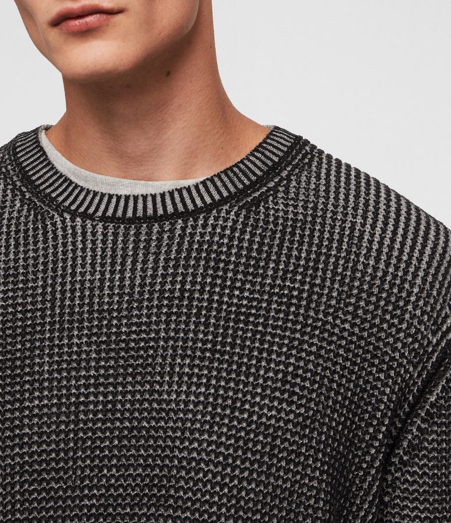 Mens Quarter Crew Sweater (black_marl) - Image 2