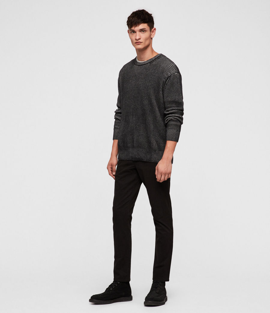 Mens Quarter Crew Sweater (black_marl) - Image 3