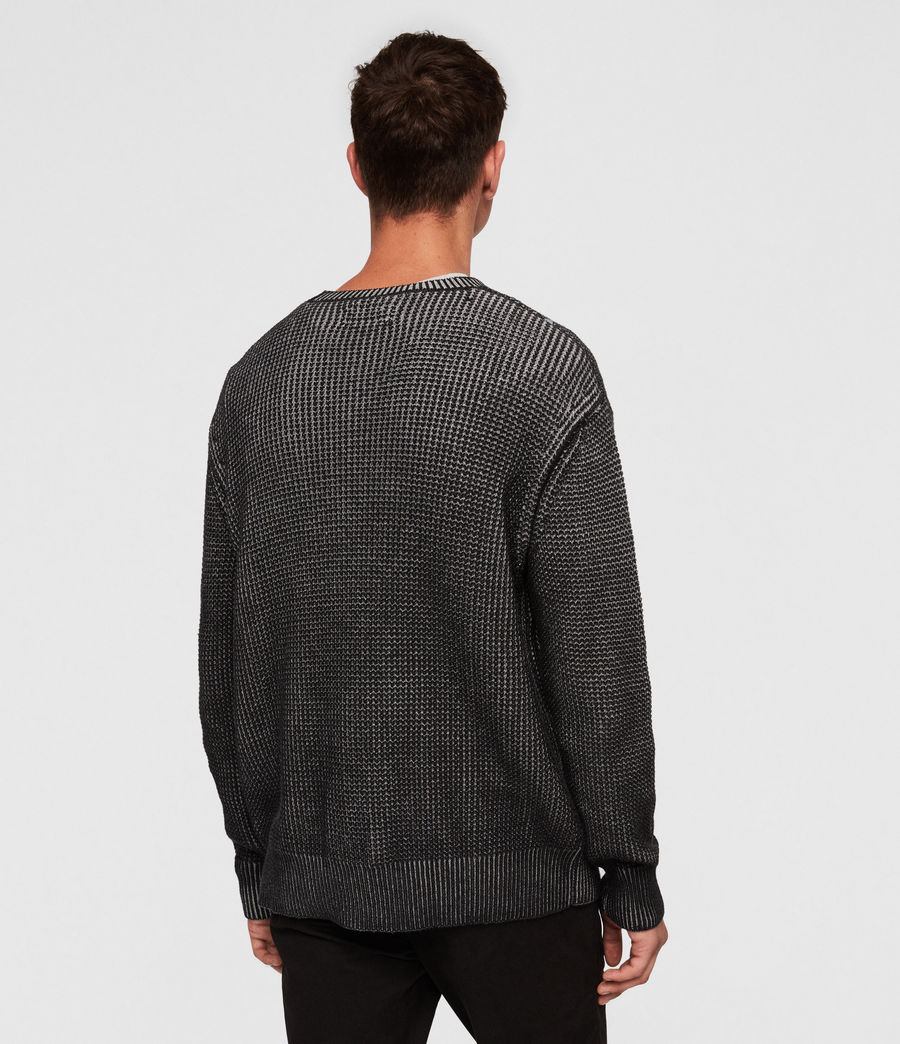 Mens Quarter Crew Sweater (black_marl) - Image 4