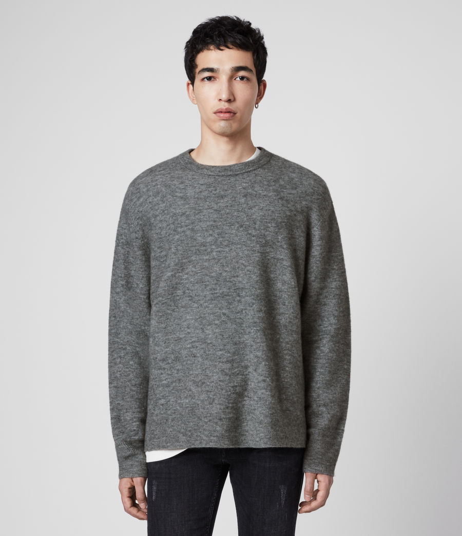 Men's Mita Crew Jumper (grey_marl) - Image 1