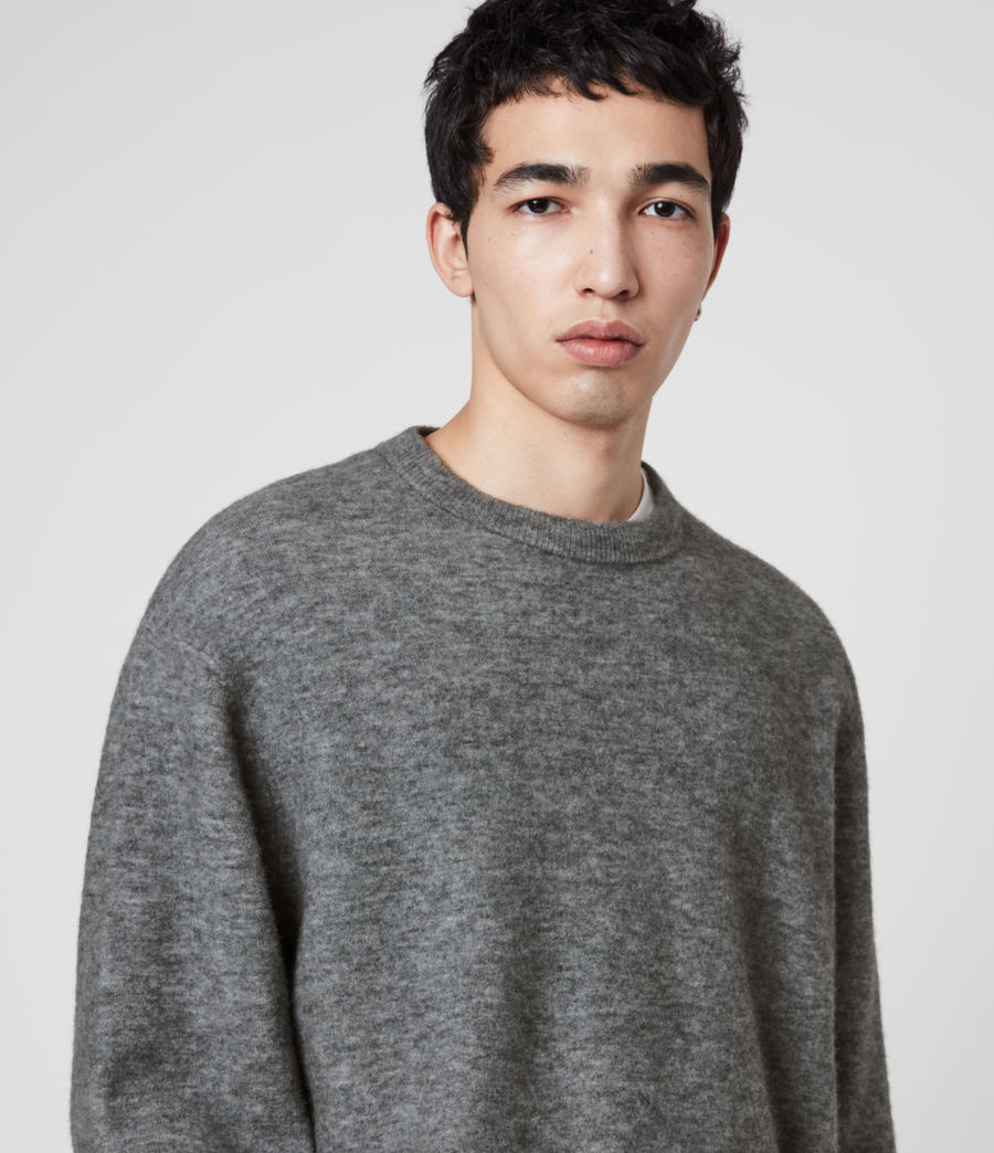 Men's Mita Crew Jumper (grey_marl) - Image 2