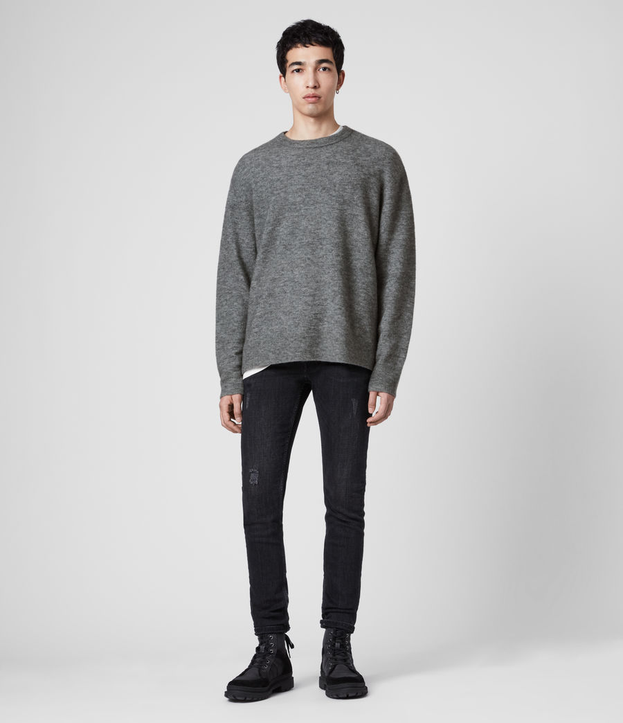 Men's Mita Crew Jumper (grey_marl) - Image 3