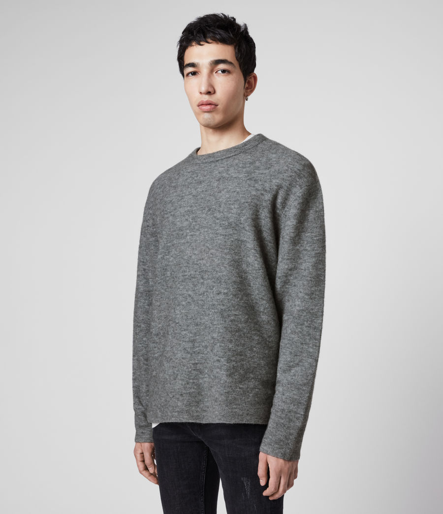 Men's Mita Crew Jumper (grey_marl) - Image 4