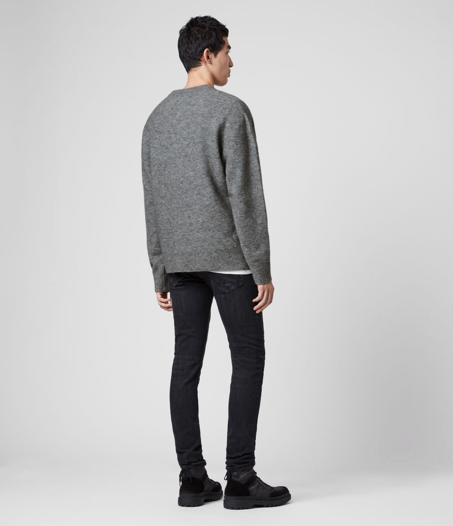 Men's Mita Crew Jumper (grey_marl) - Image 5