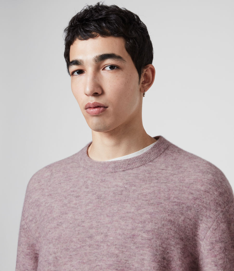 Mens Mita Crew Sweater (washed_lilac) - Image 2
