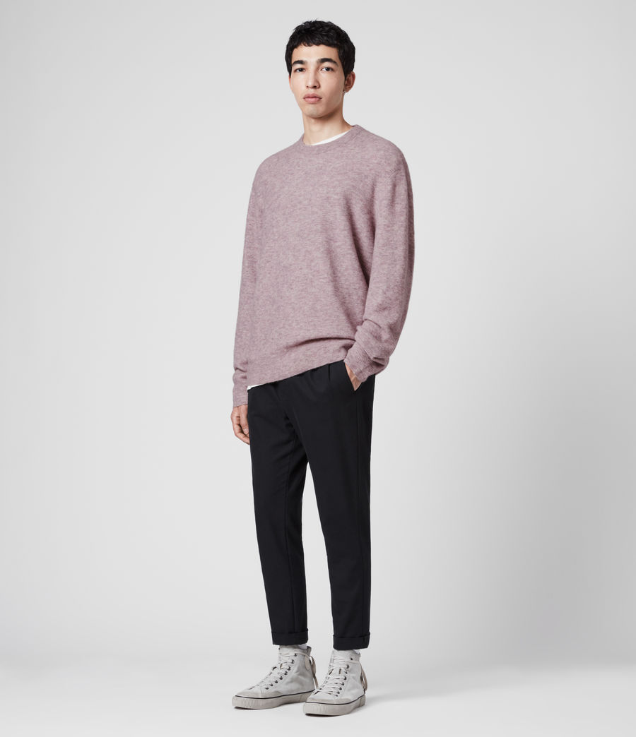 Mens Mita Crew Sweater (washed_lilac) - Image 3