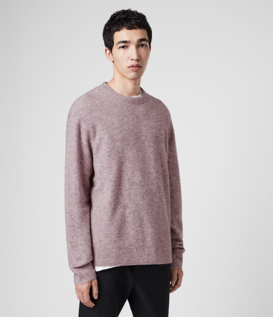 Mens Mita Crew Sweater (washed_lilac) - Image 4