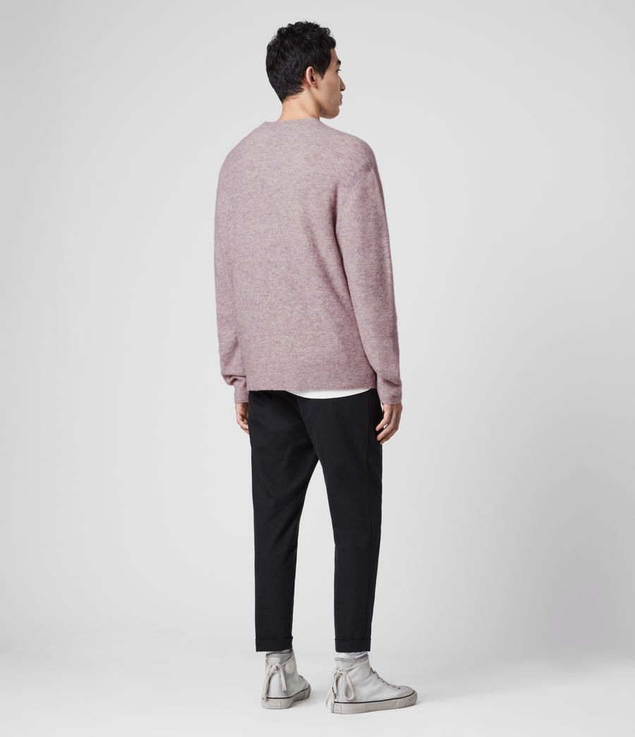 Mens Mita Crew Sweater (washed_lilac) - Image 5