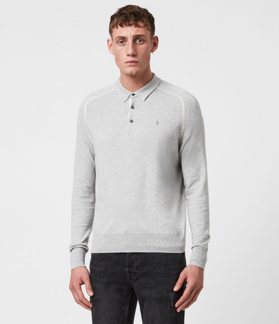 Men's Harlen Polo Shirt (light_grey_marl) - Image 1