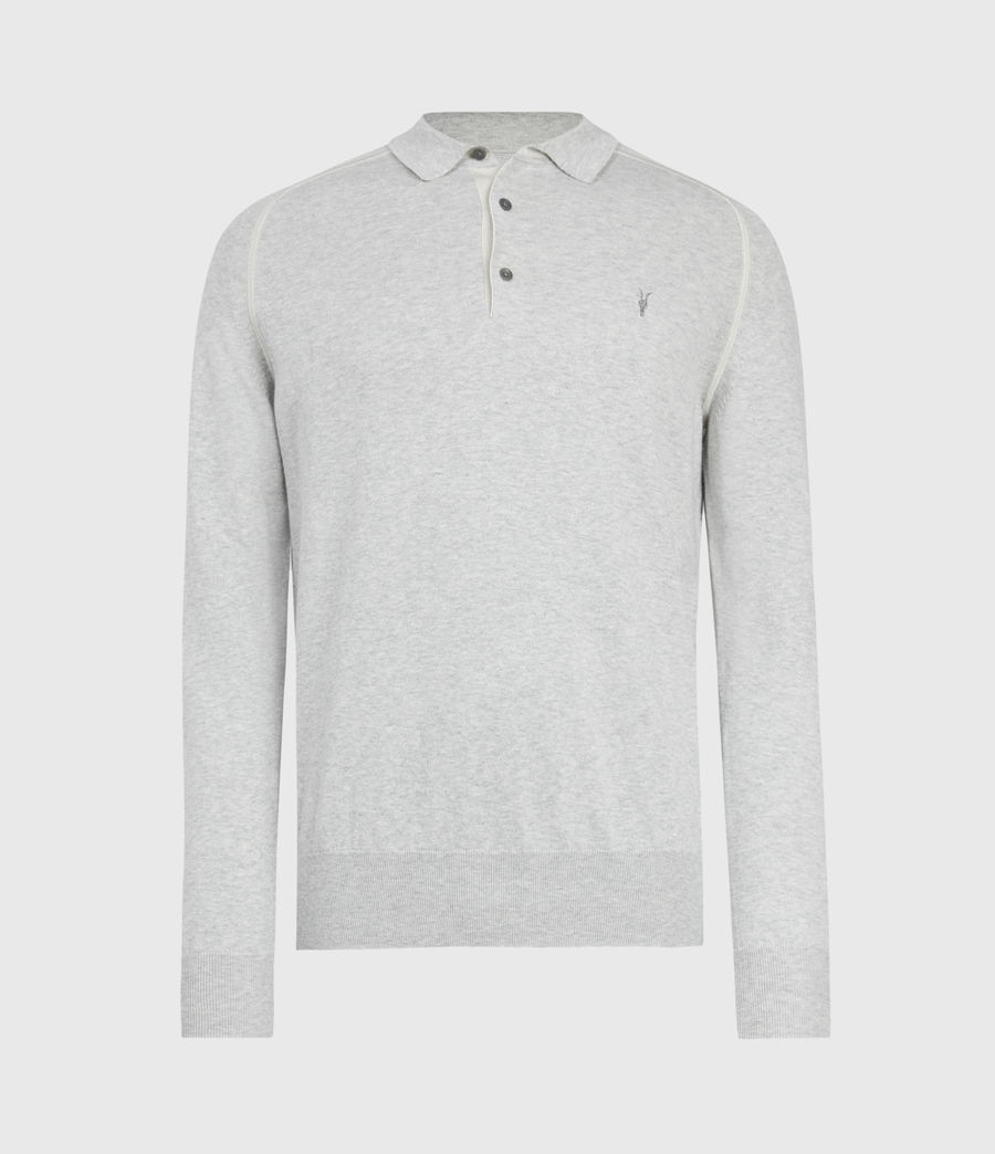 Men's Harlen Polo Shirt (light_grey_marl) - Image 2