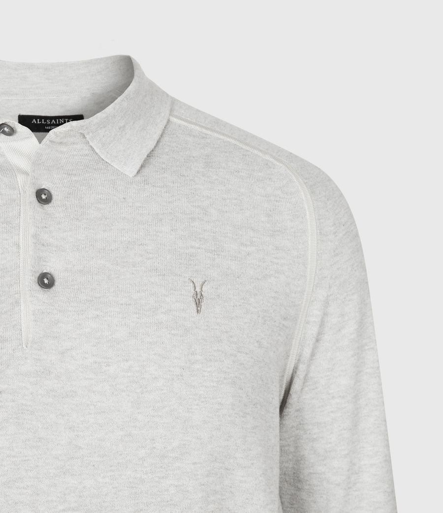 Men's Harlen Polo Shirt (light_grey_marl) - Image 4
