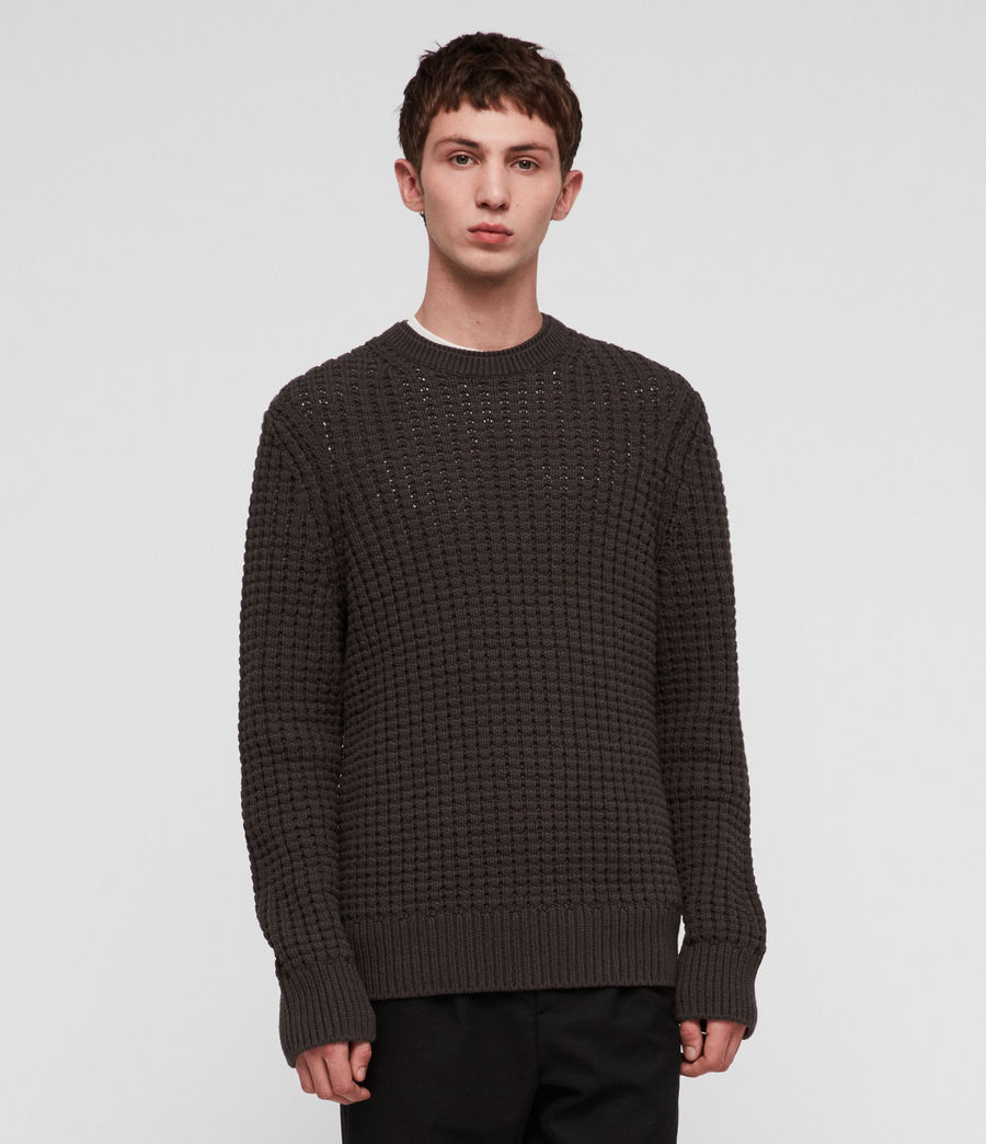 Men's Medar Crew Jumper (khaki_brown) - Image 1