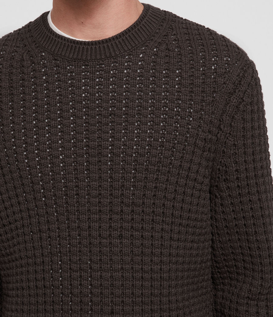 Men's Medar Crew Jumper (khaki_brown) - Image 2