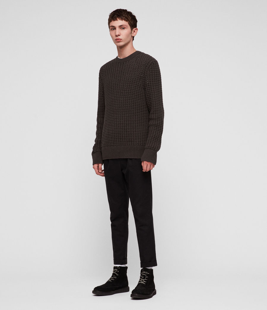 Men's Medar Crew Jumper (khaki_brown) - Image 3