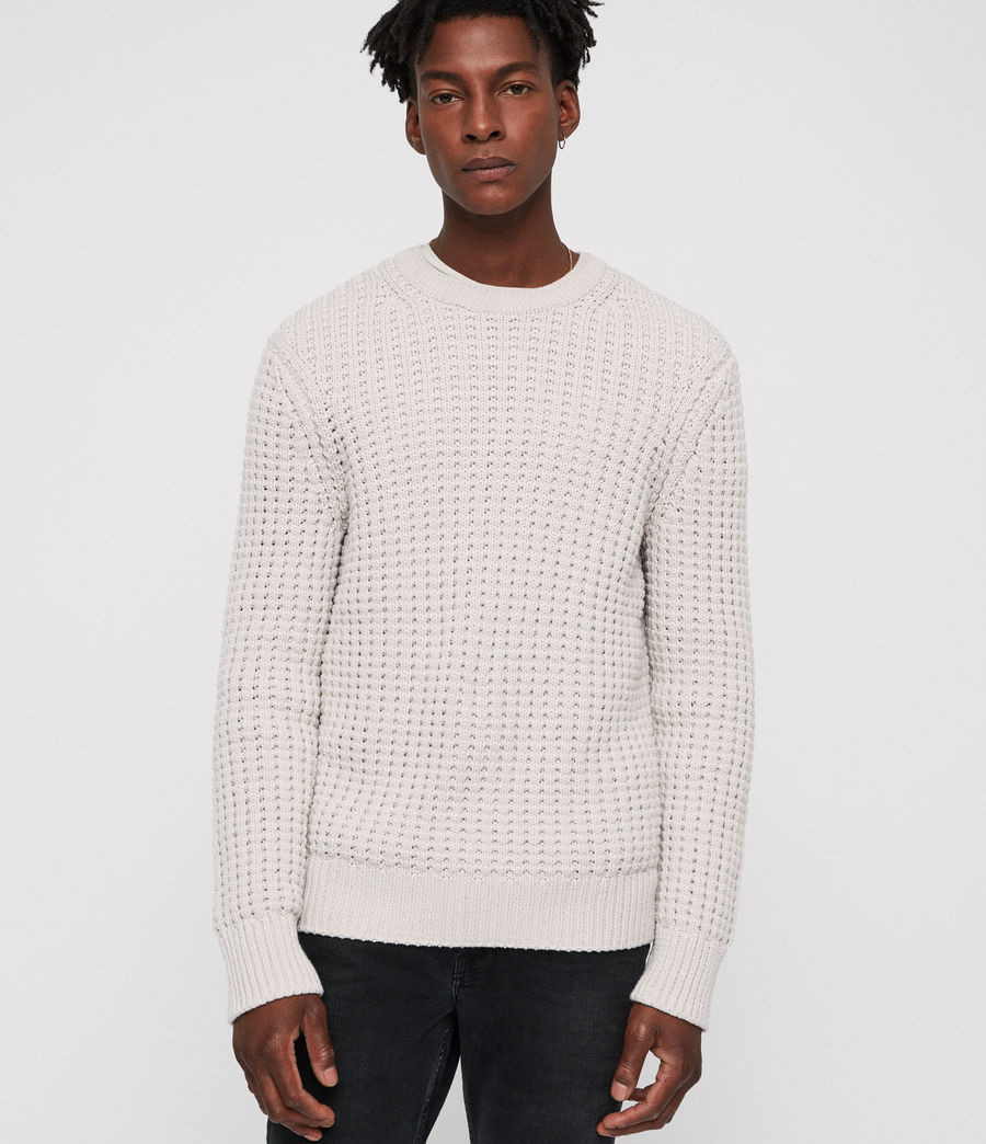 Mens Medar Crew Sweater (khaki_brown) - Image 4