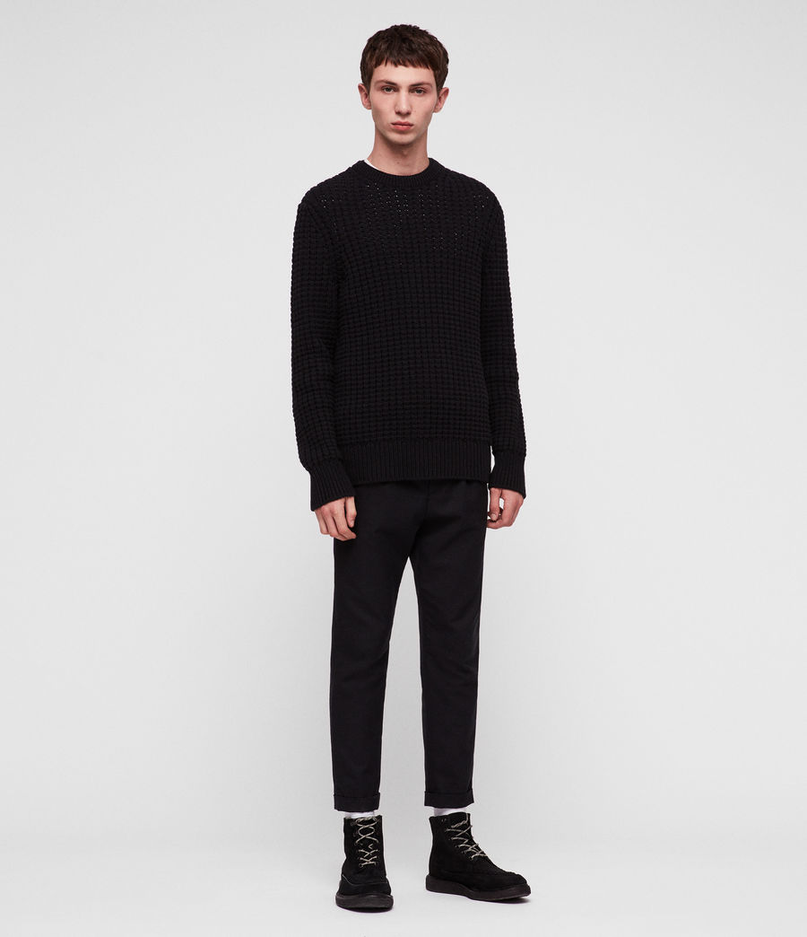 Men's Medar Crew Jumper (black) - Image 1