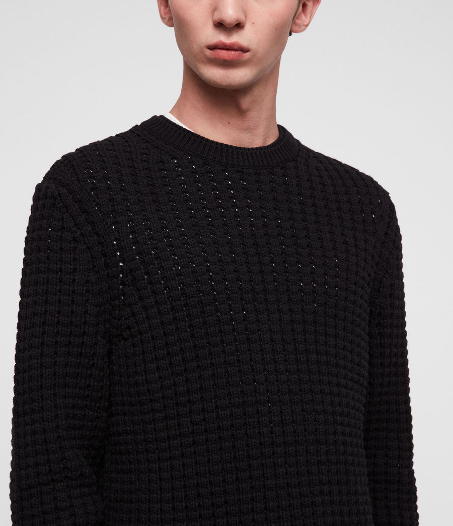 Men's Medar Crew Jumper (black) - Image 2