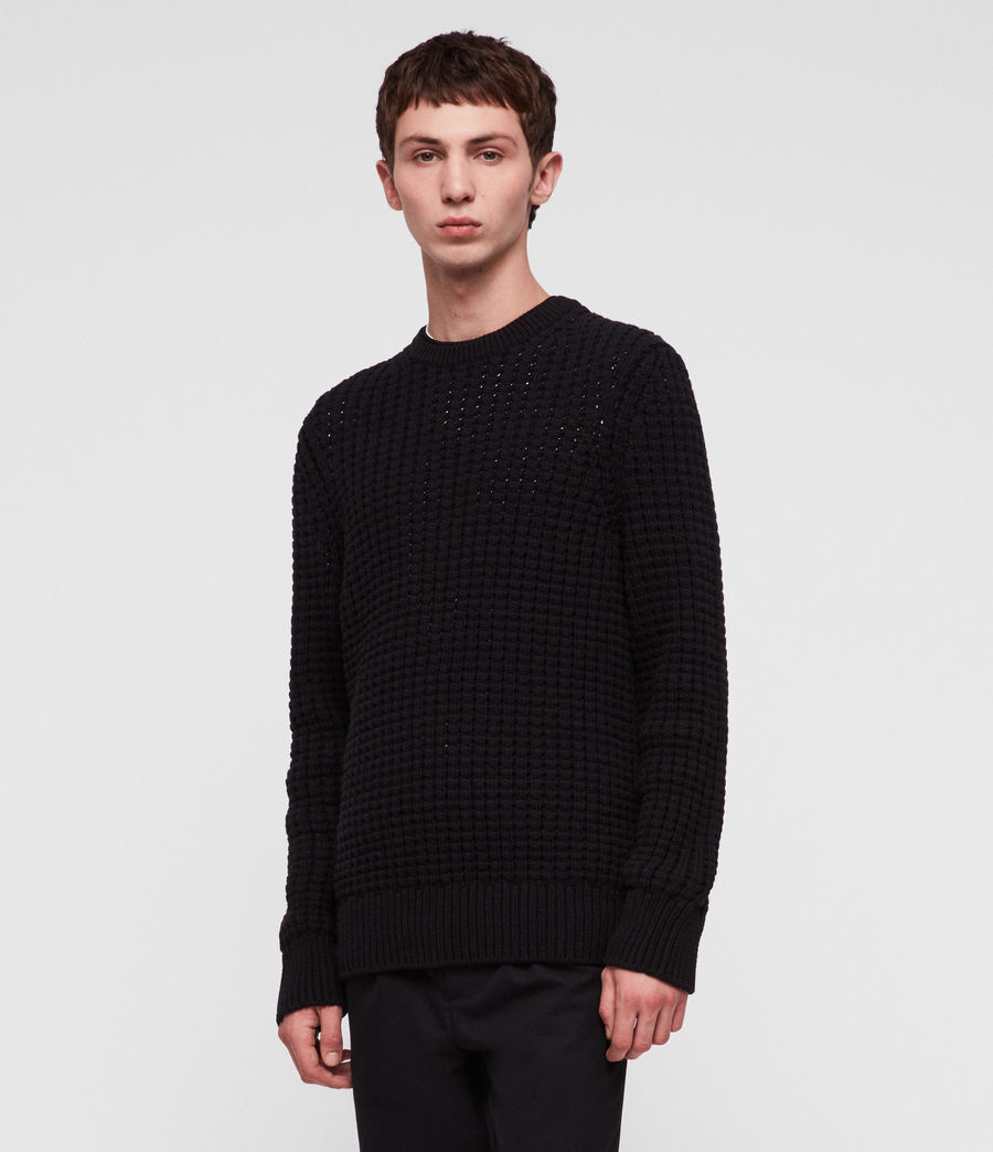 Men's Medar Crew Jumper (black) - Image 3
