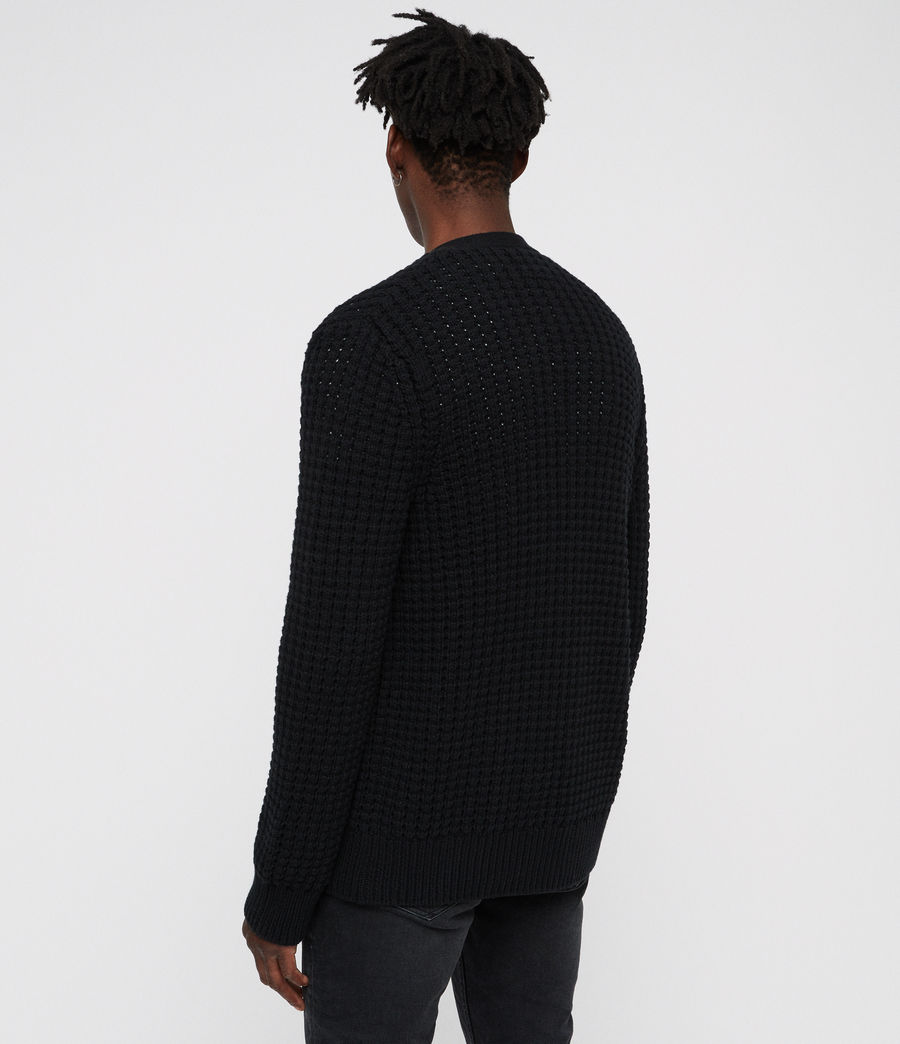 Hommes Cardigan Medar (black) - Image 4
