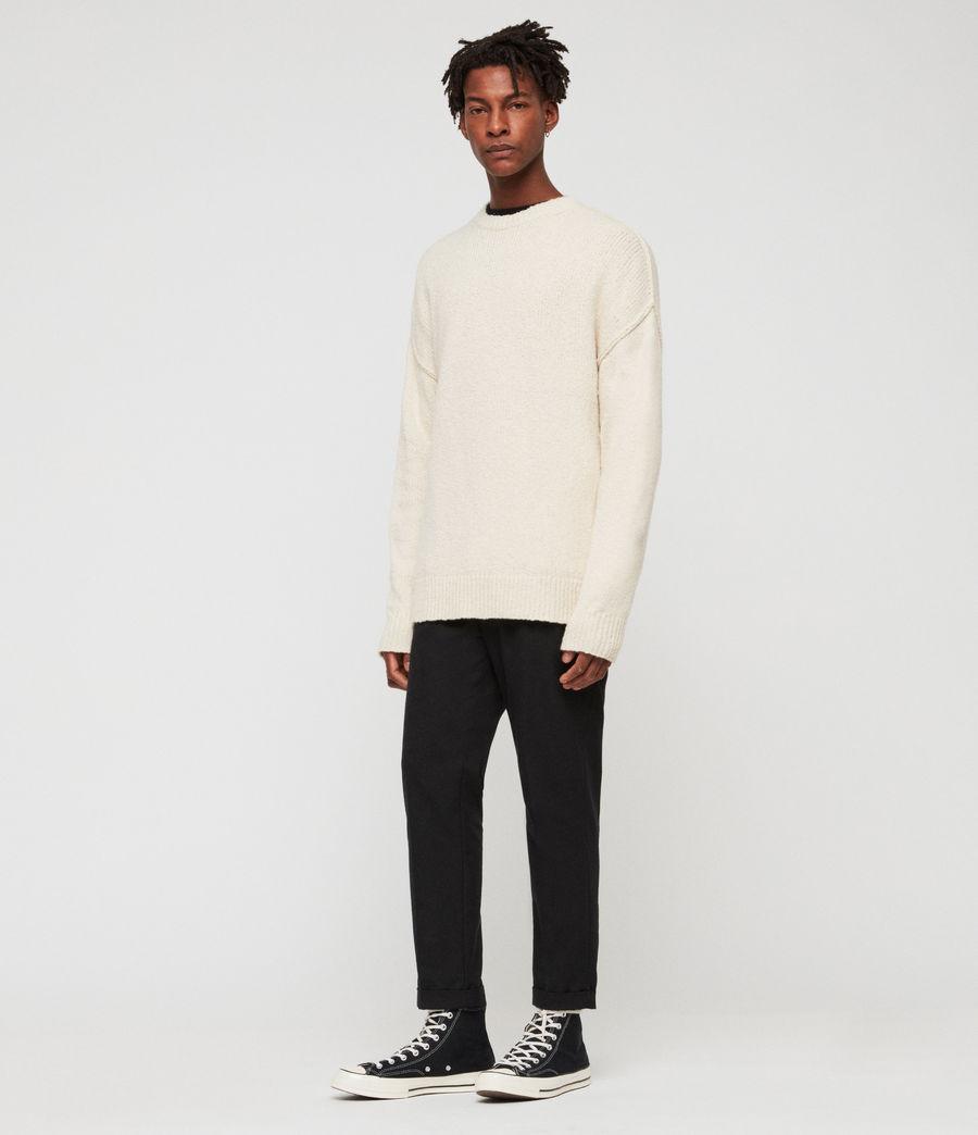 Mens Edge Crew Sweater (ecru_white) - Image 1