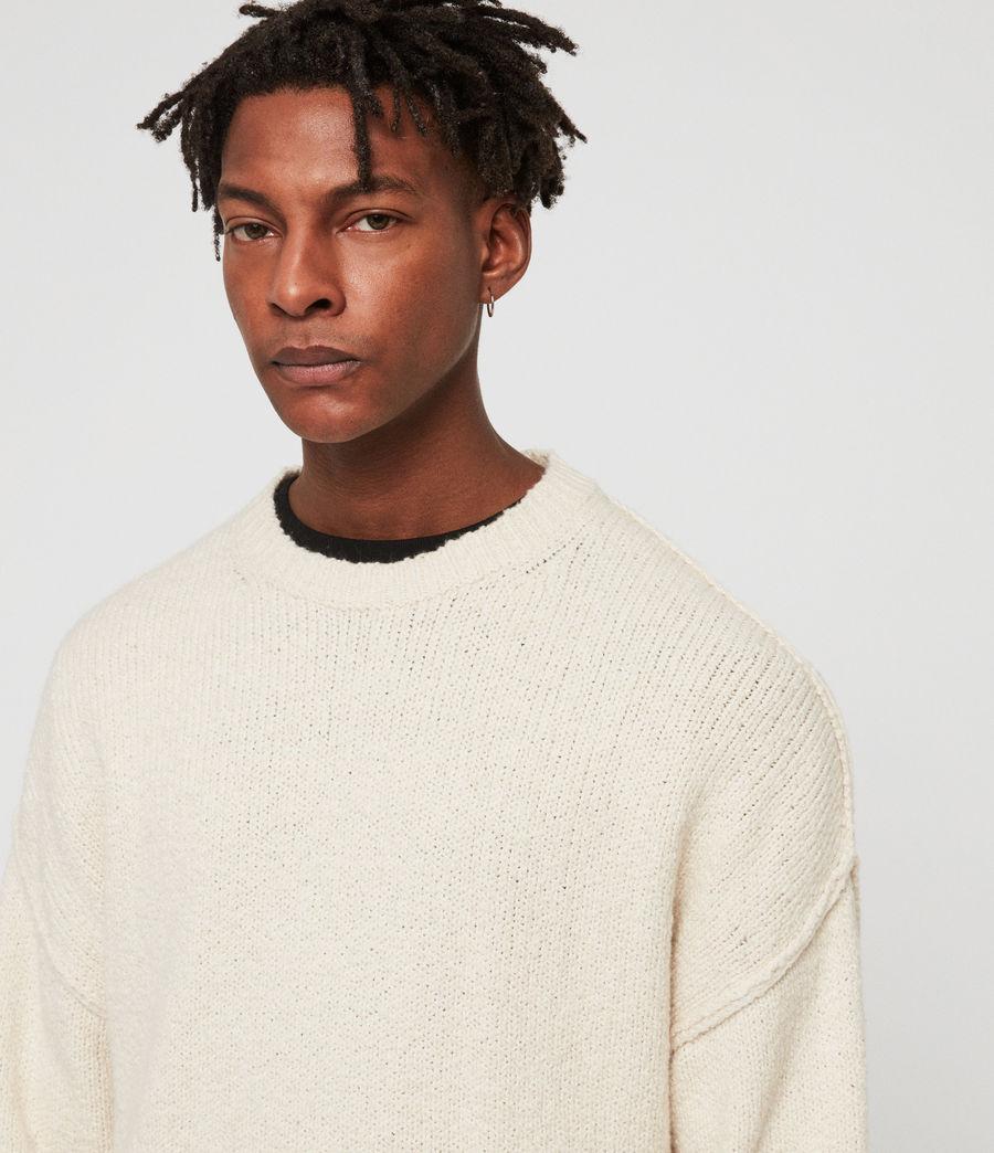 Mens Edge Crew Sweater (ecru_white) - Image 2