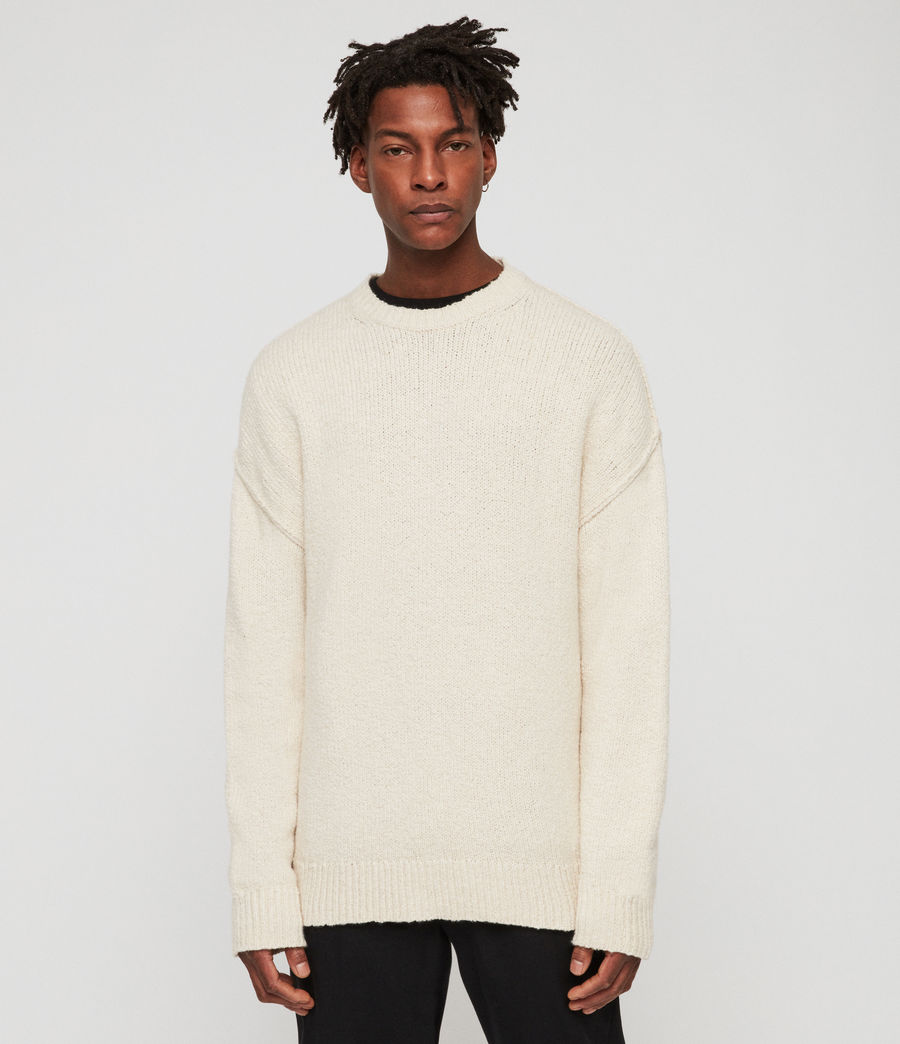 Mens Edge Crew Sweater (ecru_white) - Image 3