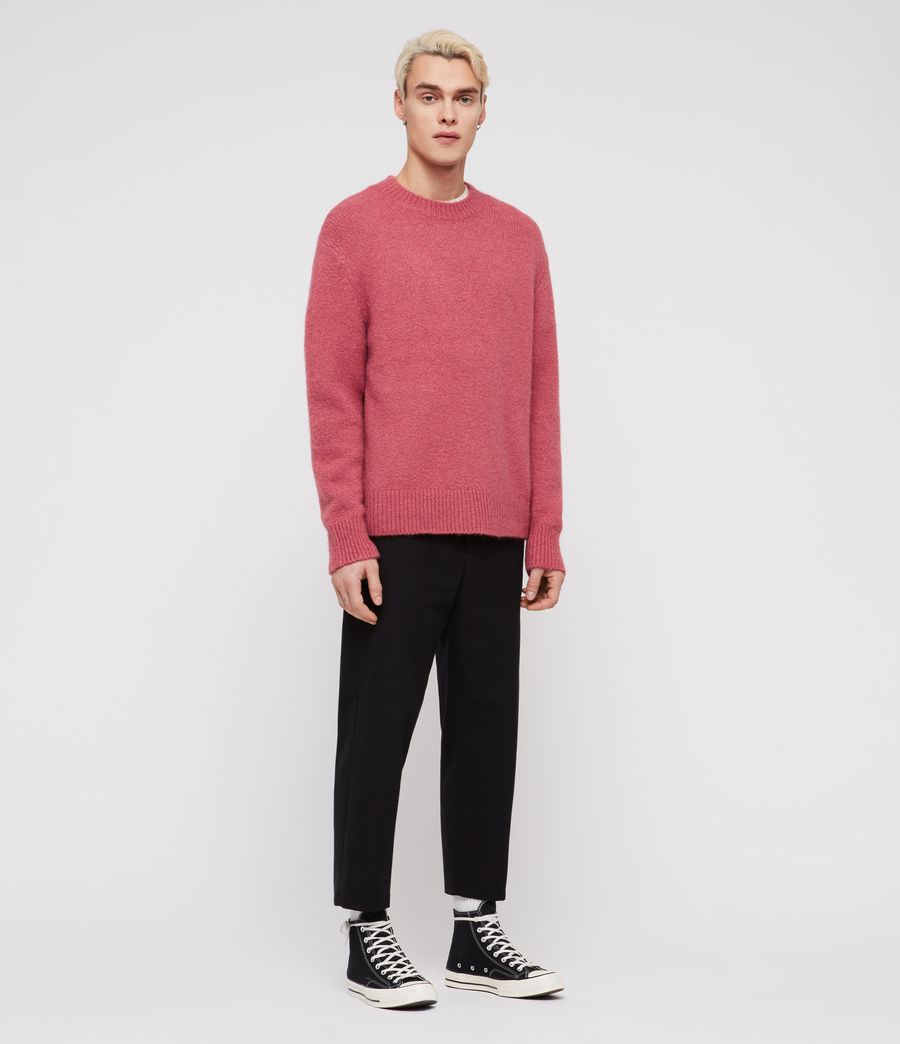 Mens Ridden Crew Sweater (moth_pink_marl) - Image 1