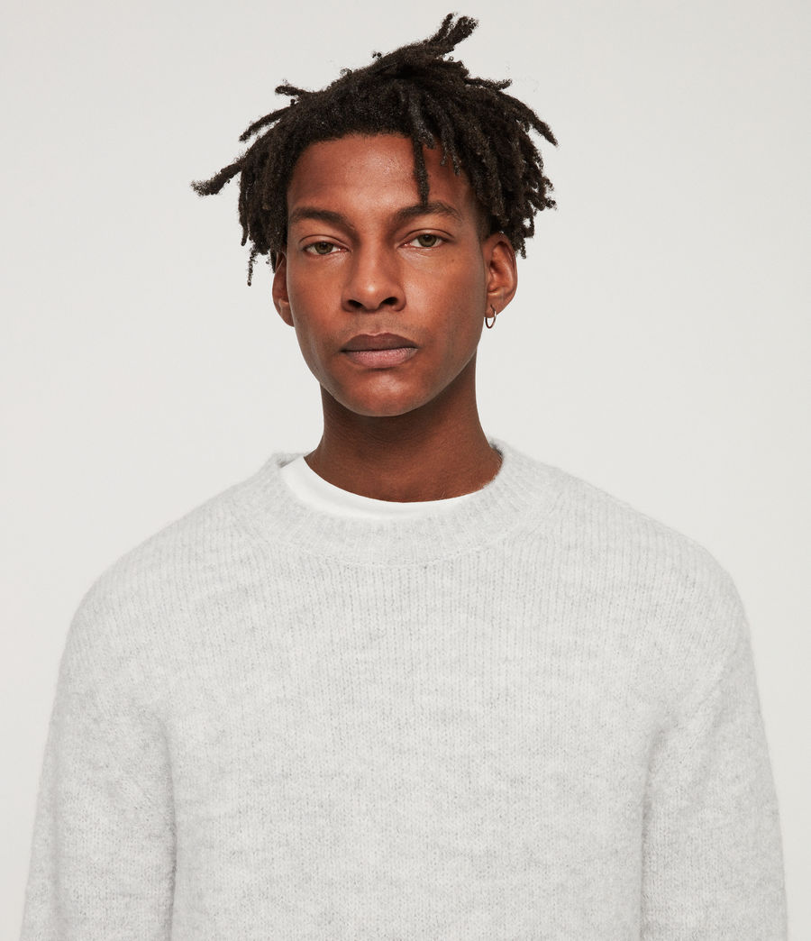 Men's Ridden Crew Jumper (light_grey_marl) - Image 2