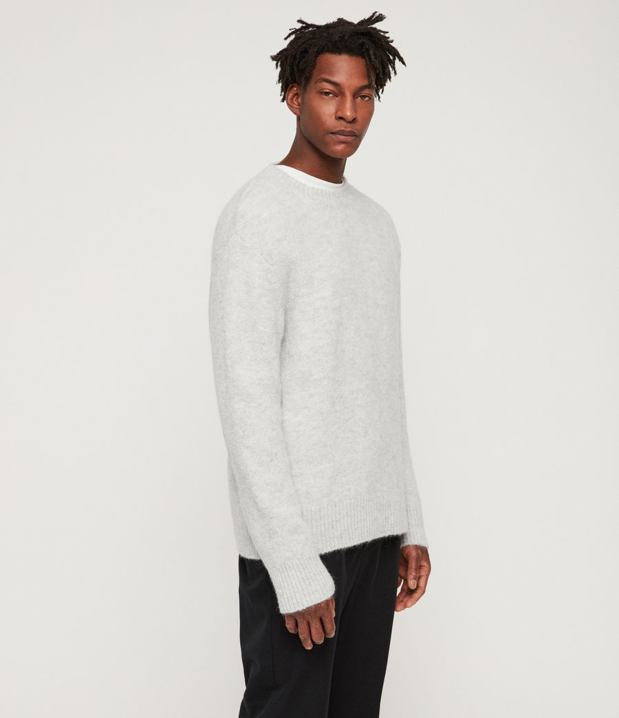 Men's Ridden Crew Jumper (light_grey_marl) - Image 3