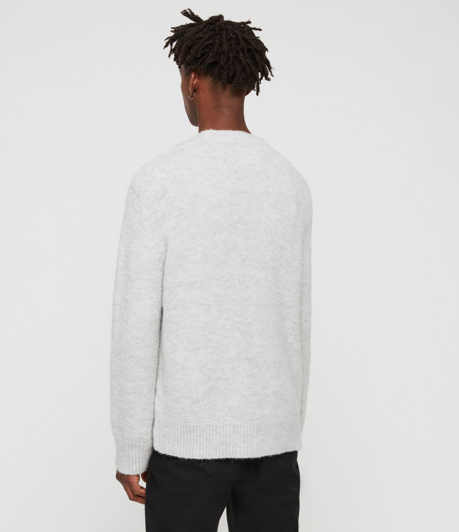 Men's Ridden Crew Jumper (light_grey_marl) - Image 4