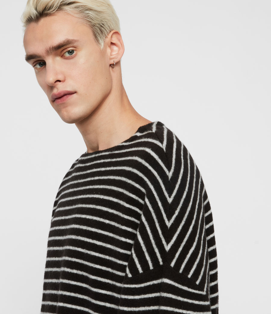 Men's Larik Crew Jumper (black_grey_marl) - Image 2