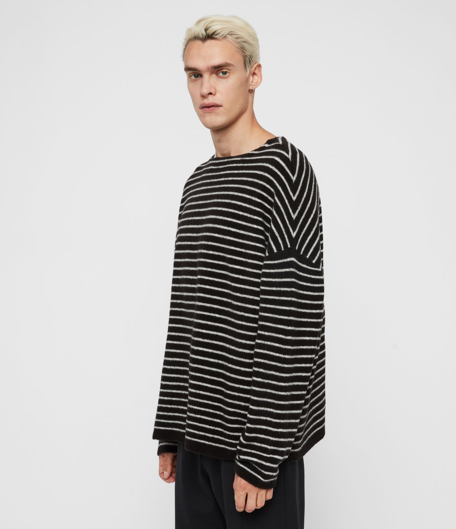 Men's Larik Crew Jumper (black_grey_marl) - Image 3
