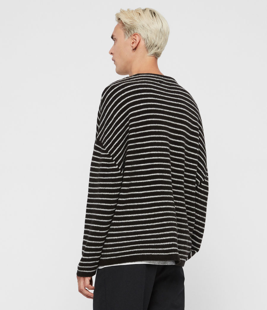 Men's Larik Crew Jumper (black_grey_marl) - Image 4