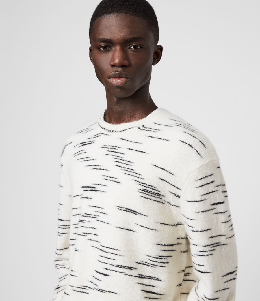 Mens Flux Crew Sweater (white_black) - Image 2