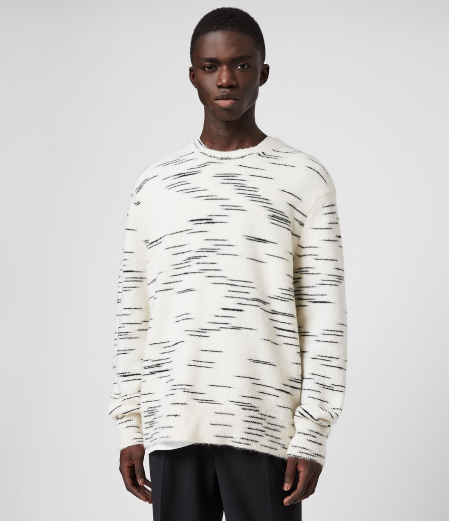 Mens Flux Crew Sweater (white_black) - Image 3