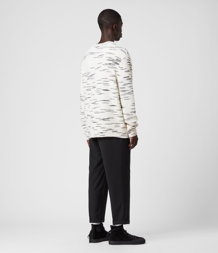 Mens Flux Crew Sweater (white_black) - Image 5